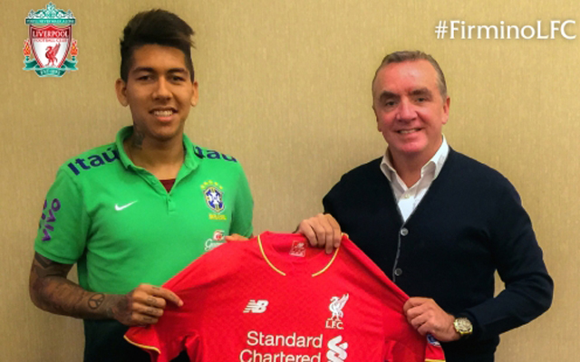Liverpool reveal Roberto Firmino's new squad number
