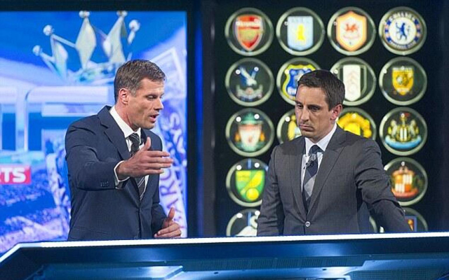 (Video) Carra had it out with Neville on MNF last night