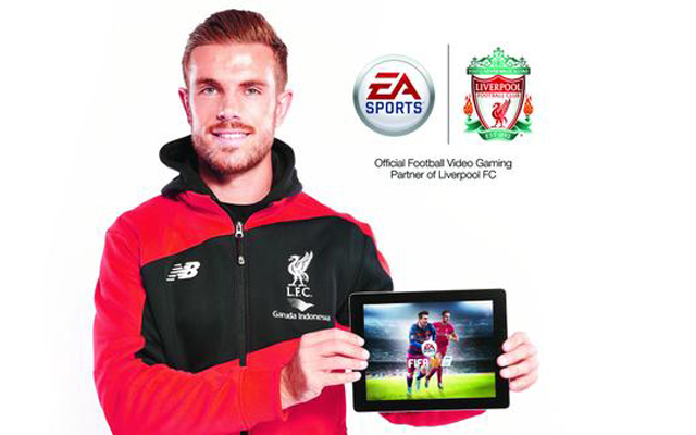 Jordan Henderson on the front of FIFA 16 – what a day for the Liverpool captain!