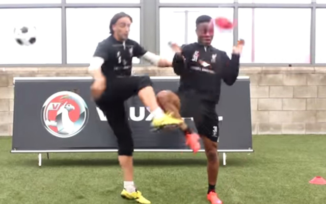 (Video) Lazar Markovic clatters Raheem Sterling in Liverpool training game