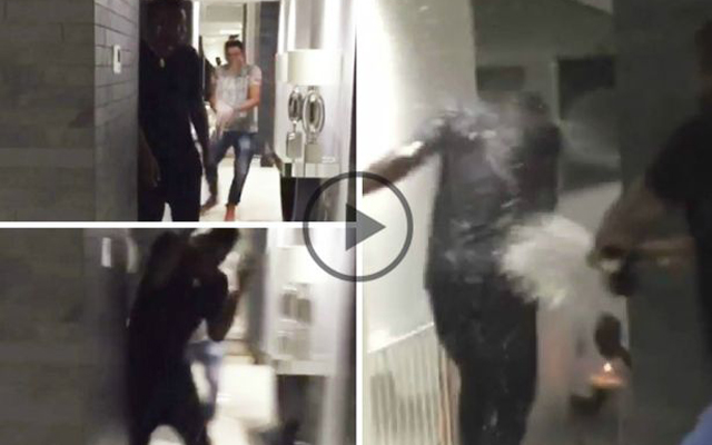 (Video) Birthday boy Mario Balotelli drenched in champagne by friends