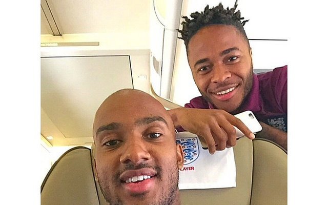 Wow… Raheem Sterling refers to himself and Fabien Delph as 'Snakes' (on a plane)!