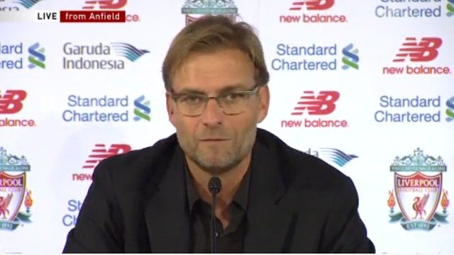 (Video) Klopp: 'You don't make world-class goals if you play this shit…'