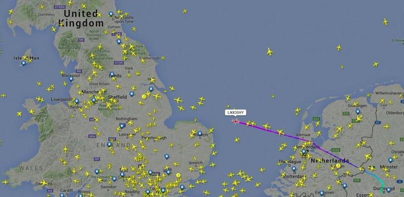 He's landed! Liverpool fans track Jurgen Klopp's plane right into John Lennon Airport!