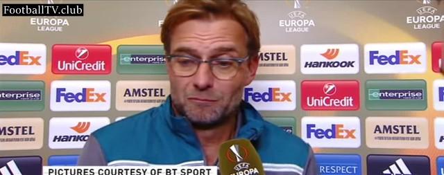 Jurgen Klopp criticises Liverpool fans following yesterday's defeat