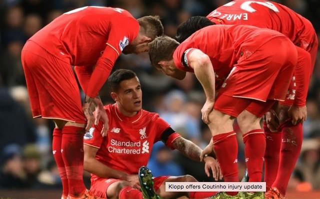 Jurgen Klopp offers Coutinho injury update
