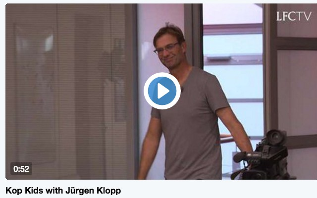 (Video) Jurgen Klopp learns Scouse with 'Kop Kids' and it's amazing