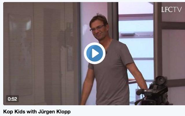 (Video) Watch hilarious full Jurgen Klopp 'Kop Kids' interview