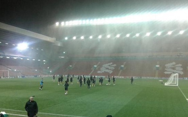 (Video) Anfield Main Stand started leaking v Arsenal!