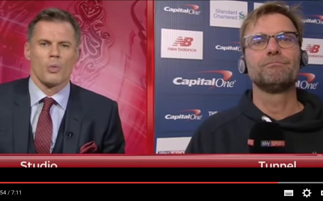 Klopp hits back at Carra's Van Dijk 'overweight' comments with funny jibe