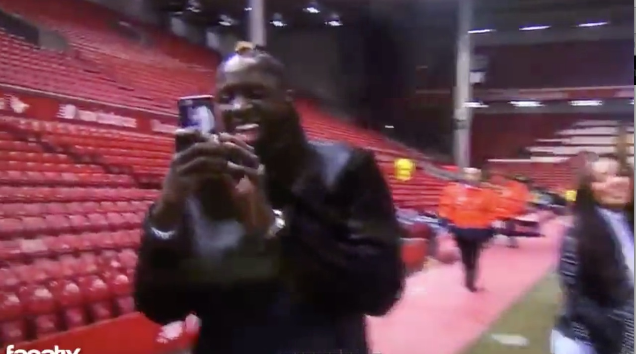 (Video) Sakho's daughter gatecrashes BT Sport interview – Mama finds it hilarious