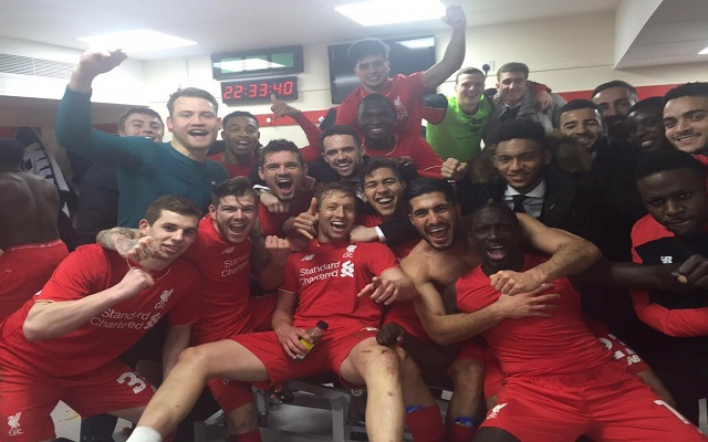 (Images) Liverpool stars' dressing room celebrations – Emre Can goes from villain to male model in 5 minutes