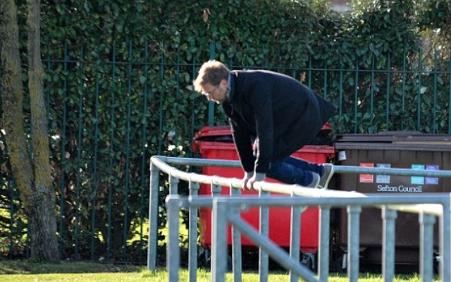 Pictures: Jurgen Klopp jumps fences & shows off ball skills filming advert outside Anfield