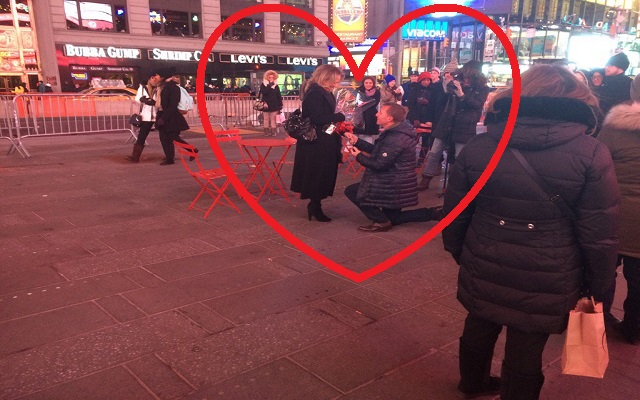 Brendan Rodgers shows great character – proposes in Times Square, NY