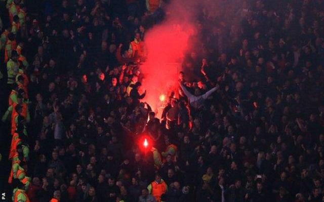 Liverpool promise to address crowd disturbances during Man Utd game