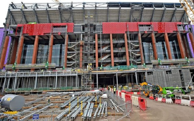 Stadium Update: Red facade being added to new stand