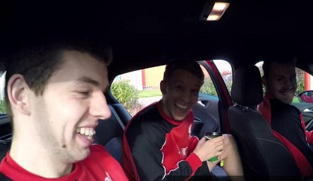 (Video) Flanagan in fits as Mignolet & Lucas pranked by Taxi driver
