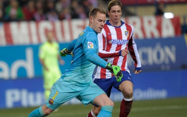 Video: Fernando Torres nutmegs Liverpool target Marc-Andre ter Stegen before being sent off