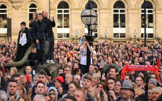 30,000 people attend Hillsborough vigil in Liverpool city centre
