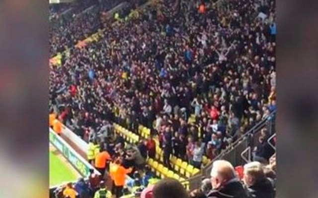 (Video) Aston Villa fans brilliantly lost the plot when they won a corner at the weekend…