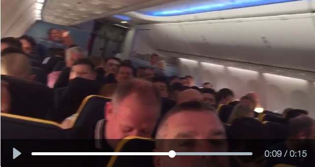 (Video) Plane full of Reds sing Bob Marley on flight to Basel