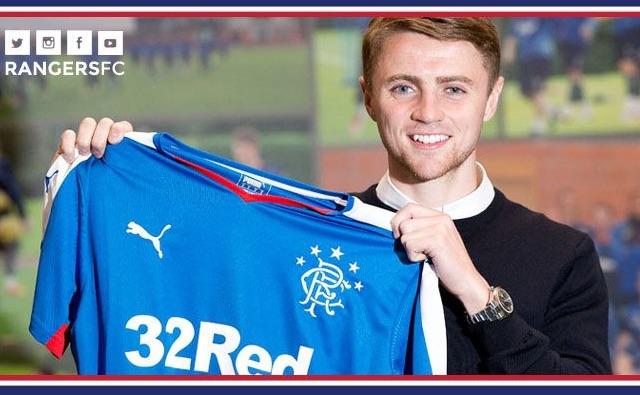 Jordan Rossiter posts emotional Twitter to message after Rangers transfer confirmed