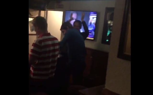 (Video) Kevin Kilbane grimaces in pub corner as Liverpool fans hilariously troll him