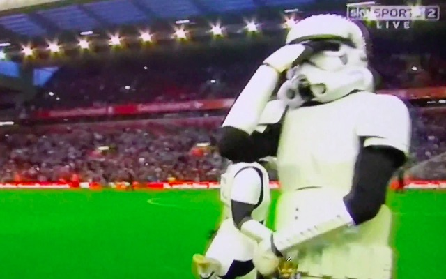 (Video) Barbaric Anfield HT entertainment features stormtroopers dancing to Gangnam Style