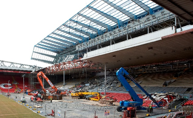 (Images) Roof removed as the new Anfield is slowly revealed