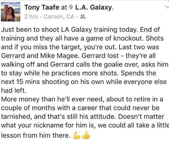 Steven Gerrard story