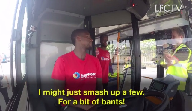 (Video) Sturridge & Origi drive a Liverpool bus in whacky club video, with Daniel on top form