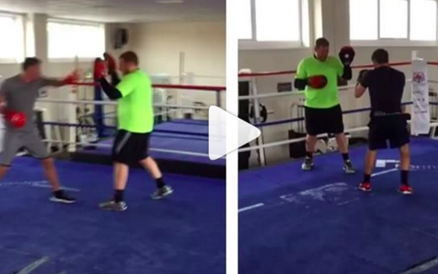 (Video) Carragher works boxing pads following Ibiza blowout – calls out Golovkin