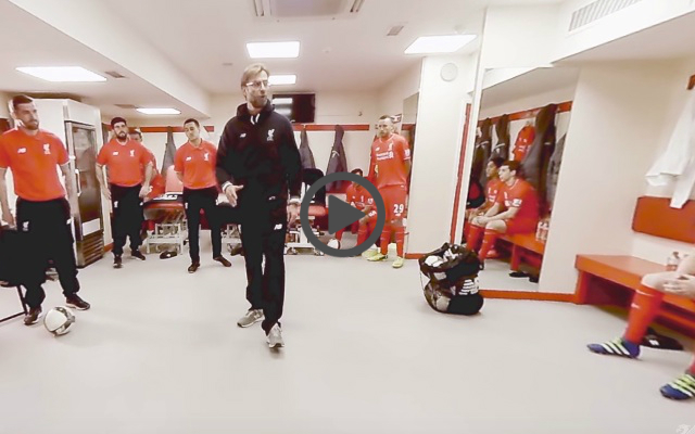 Liverpool Fans: Watch Klopp give dressing-room team-talk in ridiculously cool 360-degree video released today
