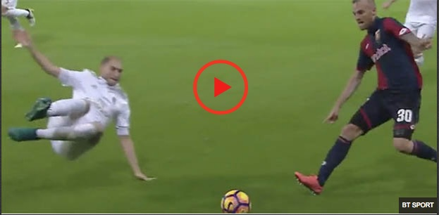 (Video) Brutal: Liverpool reject red-carded for two-footed flying assault