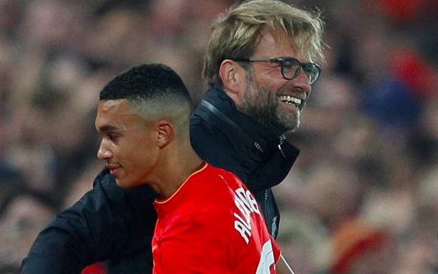 (Video) Trent-AA refuses Klopp handshake; demands famous Jurgen hug