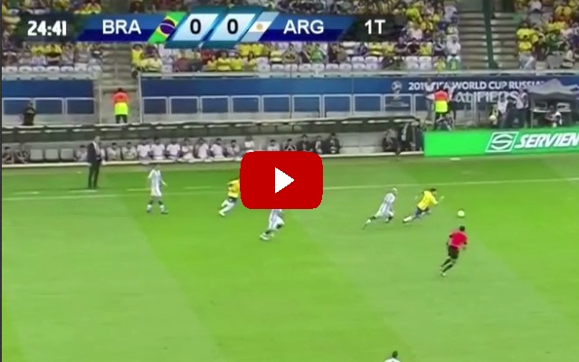 (Video) Coutinho scored an absolute worldy v Argentina last night