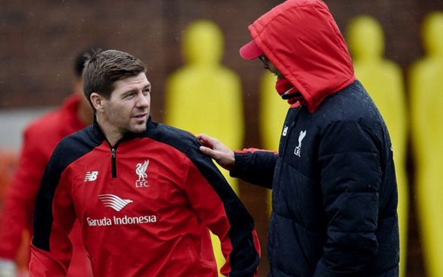Klopp speaks about fitting Gerrard into current Liverpool XI