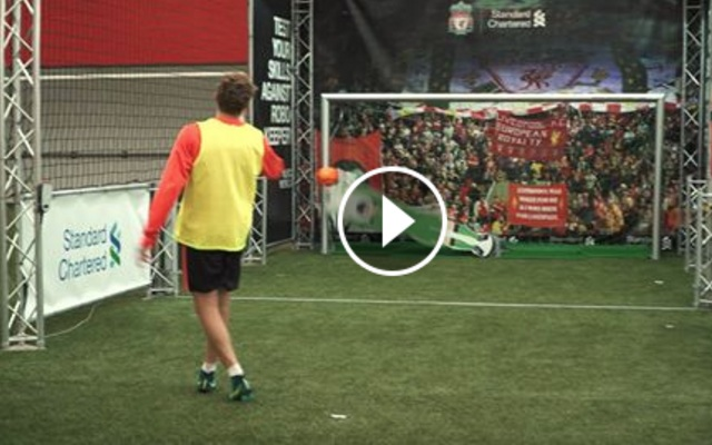 (Video) Liverpool's Lucas takes on the RoboKeeper (But Moreno left hanging…)