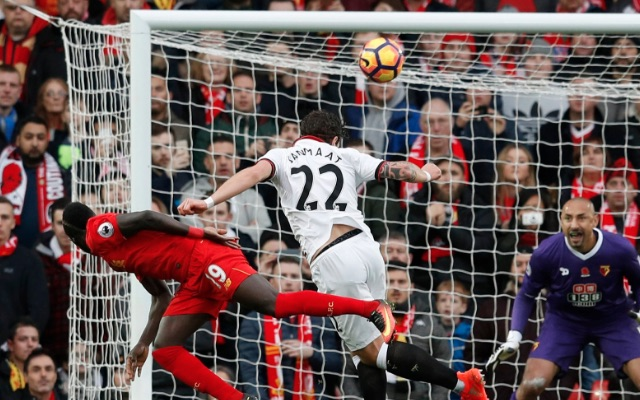 (Video) Mane scores with brilliant flick-header for Liverpool v Watford