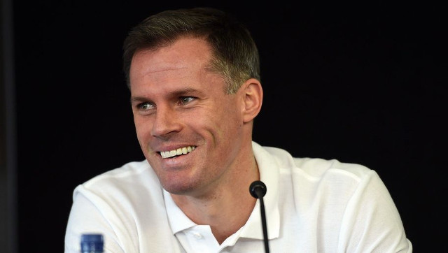(Image) Jamie Carragher puts on Everton kit and Liverpool fans lose the plot…