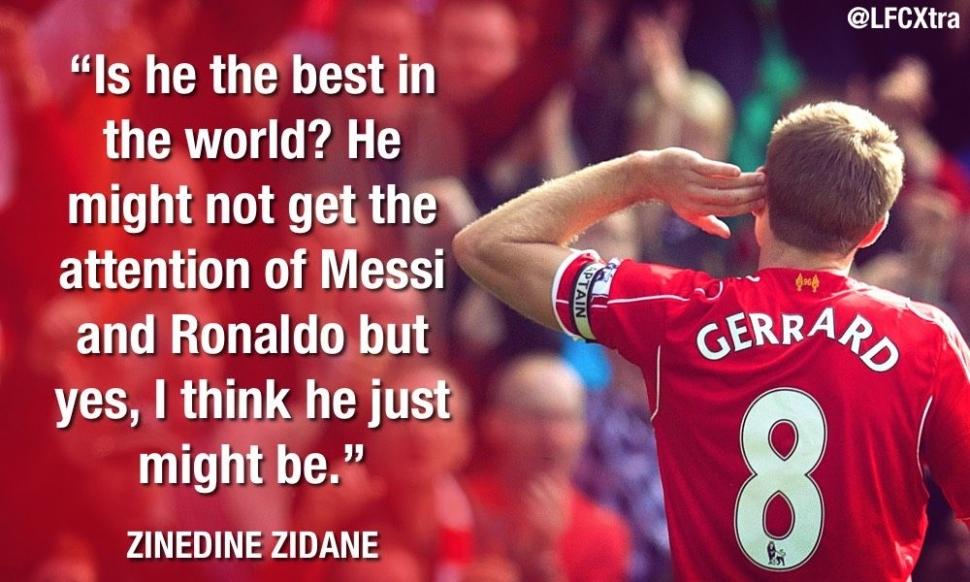 Steven Gerrard, Zinedine Zidane