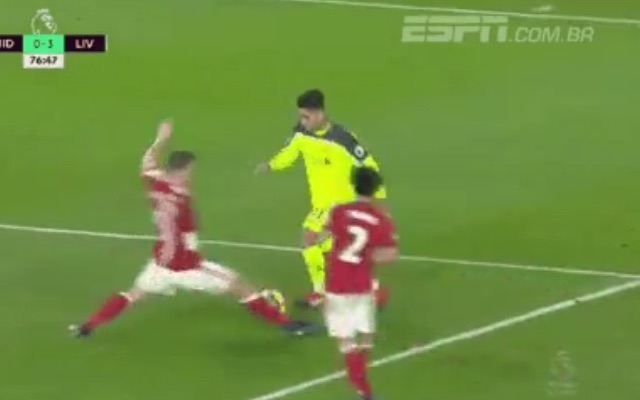 (VIDEO) Firmino 'sent Calum Chambers into a blackhole' last night