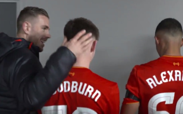 (Video) Watch Henderson with dumbstruck Woodburn in the tunnel after youngster's record-breaking goal