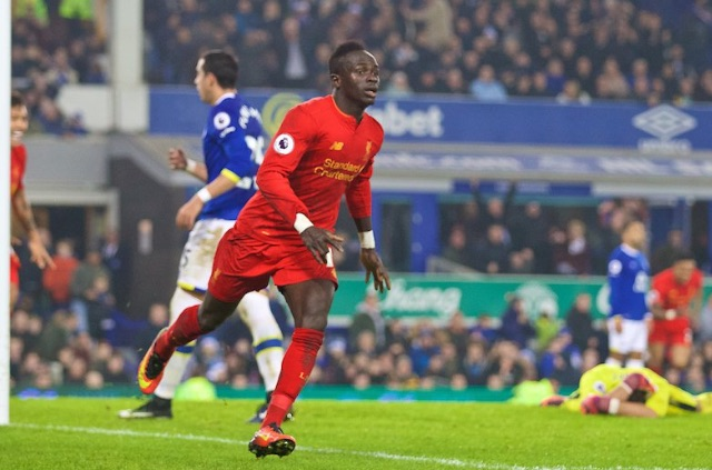 (Video) Watch Mane's winner without commentary; Goodison silent bar ravenous Reds
