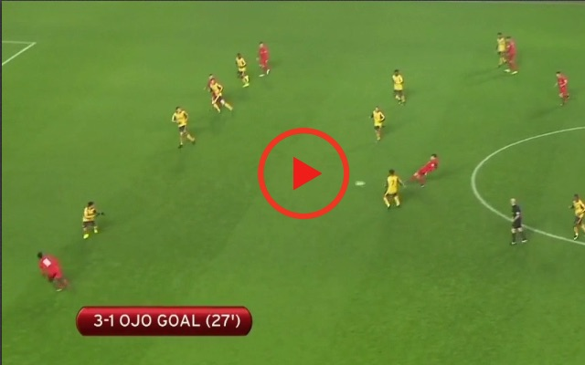 (Video) Sheyi Ojo's lovely finish v Arsenal; 19-year-old displays striker movement & composure