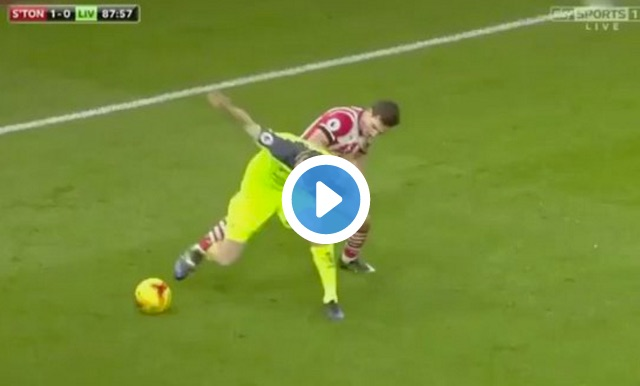 (Video) James Milner used a face-plant to control the ball last night…