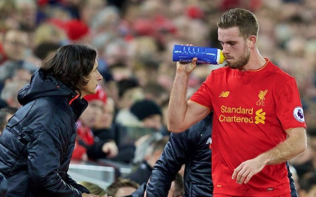 Liverpool captain Jordan Henderson should be fit for Man Utd away but will miss two more games, including semi