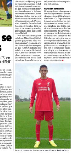 Marca - Juan Manuel Sanabria to Atletico Madrid