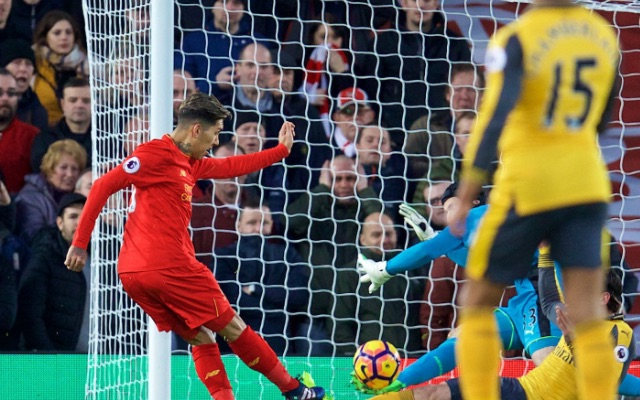 (Video) Coutinho produces beautiful dummy for Firmino to score v Arsenal