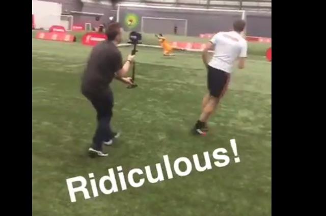 (Video) Only Steven Gerrard strikes a football like Steven Gerrard…